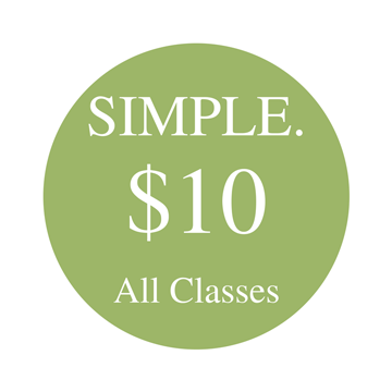 All classes are only $10 at our Boulder yoga studio!