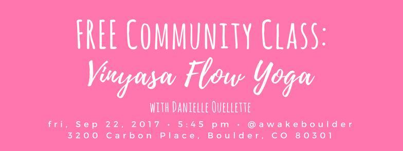 FREE Community Class: Vinyasa Flow Yoga